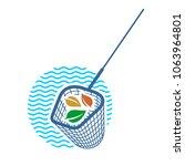 pool net logo. pool cleaning... | Shutterstock .eps vector #1063964801
