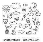 Set of doodle on paper...