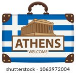 vector travel banner with... | Shutterstock .eps vector #1063972004