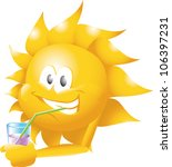sun with drink   Shutterstock .eps vector #106397231