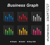 abstract business graph chart  | Shutterstock .eps vector #1063972727