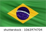 realistic waving flag of the... | Shutterstock .eps vector #1063974704