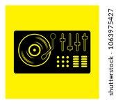 controller dj mixer icon vector | Shutterstock .eps vector #1063975427