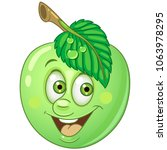 green apple. happy fruit... | Shutterstock .eps vector #1063978295