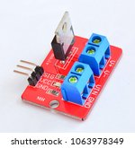 Small photo of The electronic device MOSFET transistor module is used in Arduino projects.