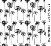 seamless pattern with palm... | Shutterstock .eps vector #1063978721