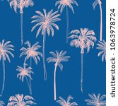 seamless pattern with palm... | Shutterstock .eps vector #1063978724