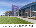 Small photo of Sunnyvale, California, USA - March 29, 2018: Buildings at Yahoo 's headquarters in Silicon Valley. Yahoo! is a web services provider that is wholly owned by Verizon Communications through Oath Inc.