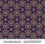 line art decorative geometric... | Shutterstock .eps vector #1063982507