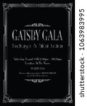silver great gatsby gala... | Shutterstock .eps vector #1063983995