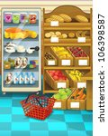 the shop illustration with... | Shutterstock . vector #106398587