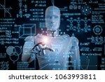 3d rendering robot learning or... | Shutterstock . vector #1063993811