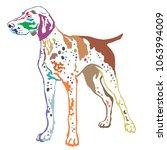 colorful contour decorative... | Shutterstock .eps vector #1063994009