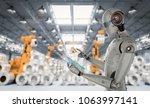 3d rendering humanoid robot... | Shutterstock . vector #1063997141