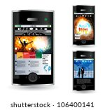 smart phone with net application | Shutterstock .eps vector #106400141