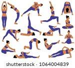 set of vector silhouettes of... | Shutterstock .eps vector #1064004839