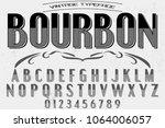 vintage font handcrafted vector ... | Shutterstock .eps vector #1064006057