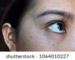 skin problems of an asian woman....   Shutterstock . vector #1064010227