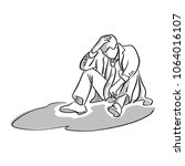 disappointed businessman... | Shutterstock .eps vector #1064016107