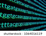 Small photo of DNA sequencing. Sequence of nucleotide bases in the gene.