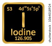 periodic table element iodine... | Shutterstock .eps vector #1064018924