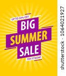 summer sale banner template... | Shutterstock .eps vector #1064021927