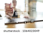 digital disruption  future... | Shutterstock . vector #1064023049