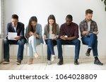 multi ethnic millennial people...   Shutterstock . vector #1064028809