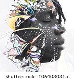 portrait photography blends in...   Shutterstock . vector #1064030315