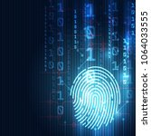 fingerprint integrated in a... | Shutterstock .eps vector #1064033555