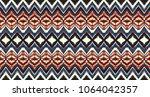 ikat seamless pattern. vector... | Shutterstock .eps vector #1064042357