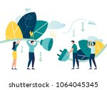 business concept vector... | Shutterstock .eps vector #1064045345