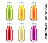 juice glass bottle 3d photo...   Shutterstock .eps vector #1064047007