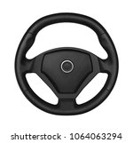 steering wheel  isolated on the ... | Shutterstock . vector #1064063294