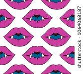 seamless pattern with vampire... | Shutterstock .eps vector #1064068187
