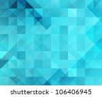 blue bright abstract triangles... | Shutterstock .eps vector #106406945