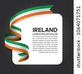 ireland flag background | Shutterstock .eps vector #1064071751