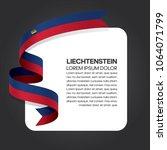 liechtenstein flag background | Shutterstock .eps vector #1064071799