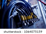 factory for aluminum and pvc... | Shutterstock . vector #1064075159