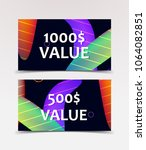 gift voucher with technological ... | Shutterstock .eps vector #1064082851