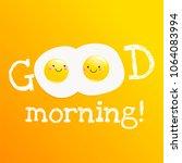 good morning banner. classic... | Shutterstock .eps vector #1064083994