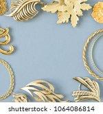 woman's jewelry. vintage... | Shutterstock . vector #1064086814
