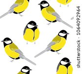 seamless pattern with tits on a ... | Shutterstock .eps vector #1064092964