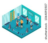 isometric individual training... | Shutterstock .eps vector #1064093507