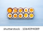 Small photo of eggs in varying degrees of availability depending on the time of boiling eggs