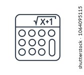 math icon. isolated mathematics ... | Shutterstock . vector #1064095115