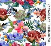 colorful bouquet. floral...   Shutterstock . vector #1064096327