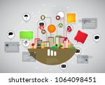 vector illustration of modern... | Shutterstock .eps vector #1064098451