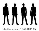 vector silhouettes of men ... | Shutterstock .eps vector #1064101145