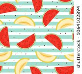 seamless pattern of pieces of... | Shutterstock .eps vector #1064102894
